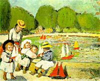 The Tuileries Pool, Pablo Picasso, 1901.